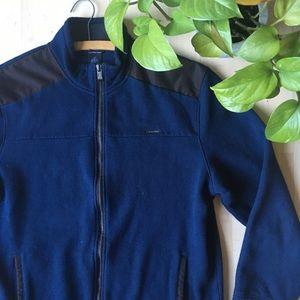 CALVIN KLEIN Fleece Zip Sweatshirt Jacket Navy L